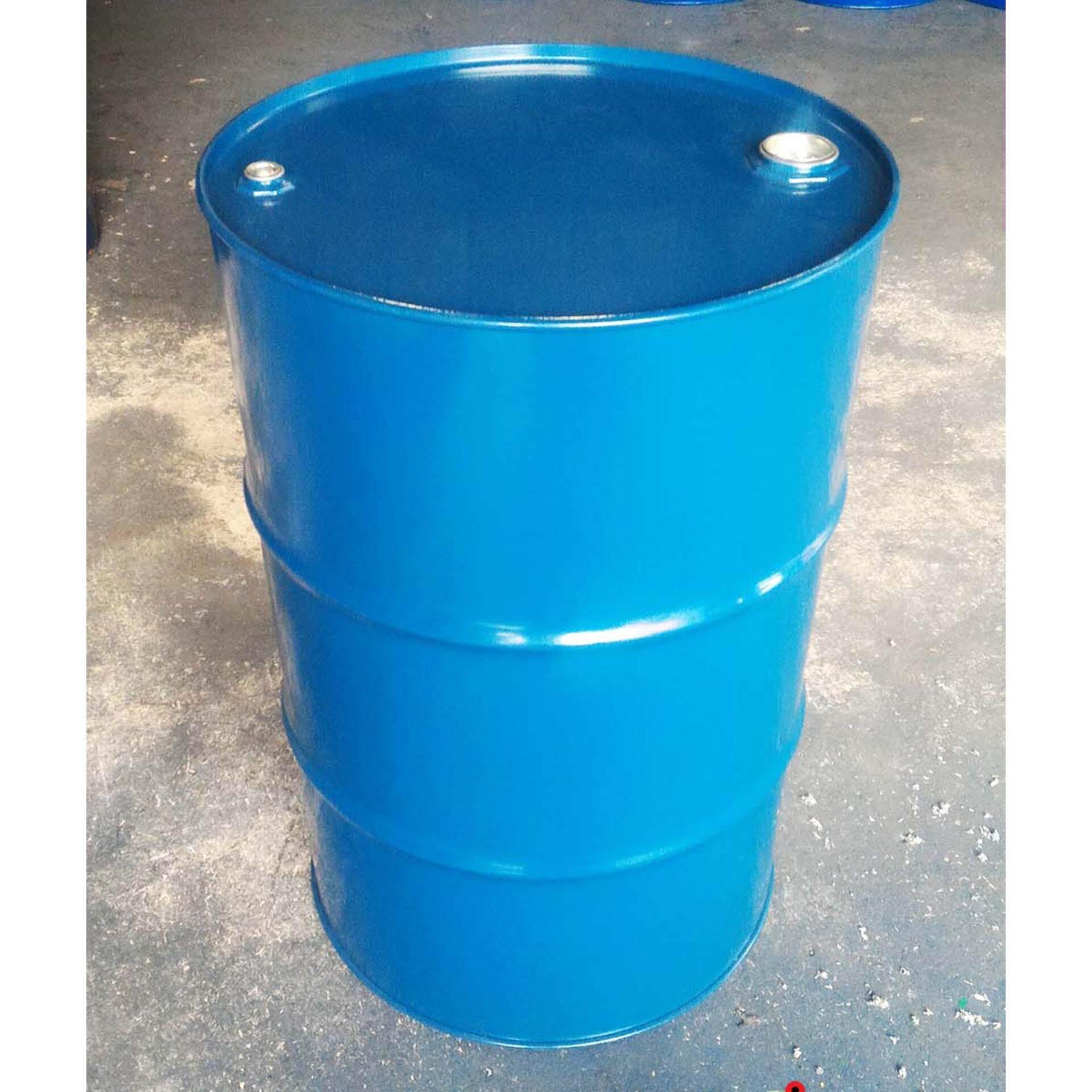 ถังเหล็กใหม่ 200 ลิตร สำหรับบรรจุน้ำมัน ถังโลหะ ถังน้ำมัน ถัง200ลิตร สีน้ำเงิน / ดำ