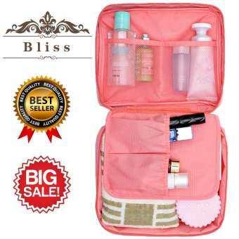 Bliss กระเป๋าเครื่องสำอางค์ กระเป๋าใส่เครื่องสำอาง กระเป๋าเครื่องสำอาง ใส่อุปกรณ์แต่งหน้า ใส่ของจุกจิก แบบพกพา Cosmetic Bag Portable Travel Makeup Toiletry Case Pouch-