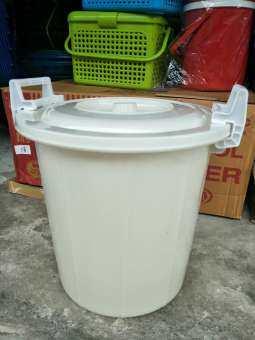 ถังน้ำหูล็อคสีขาว 30ลิตร,45ลิตร,52ลิตร-