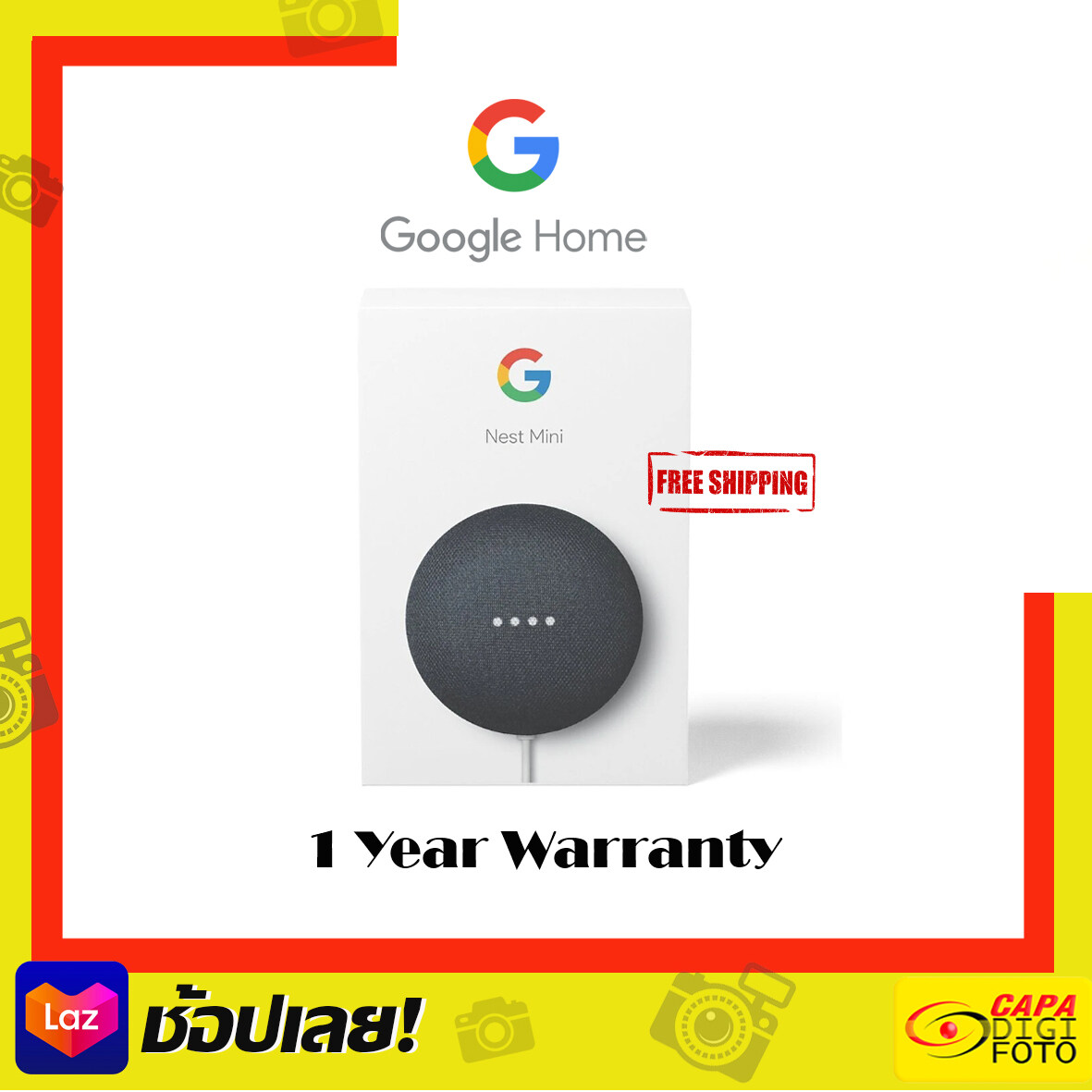 Google Nest Mini Gen2 ลำโพงอัจฉริยะ ประกัน1ปี ส่งฟรี.