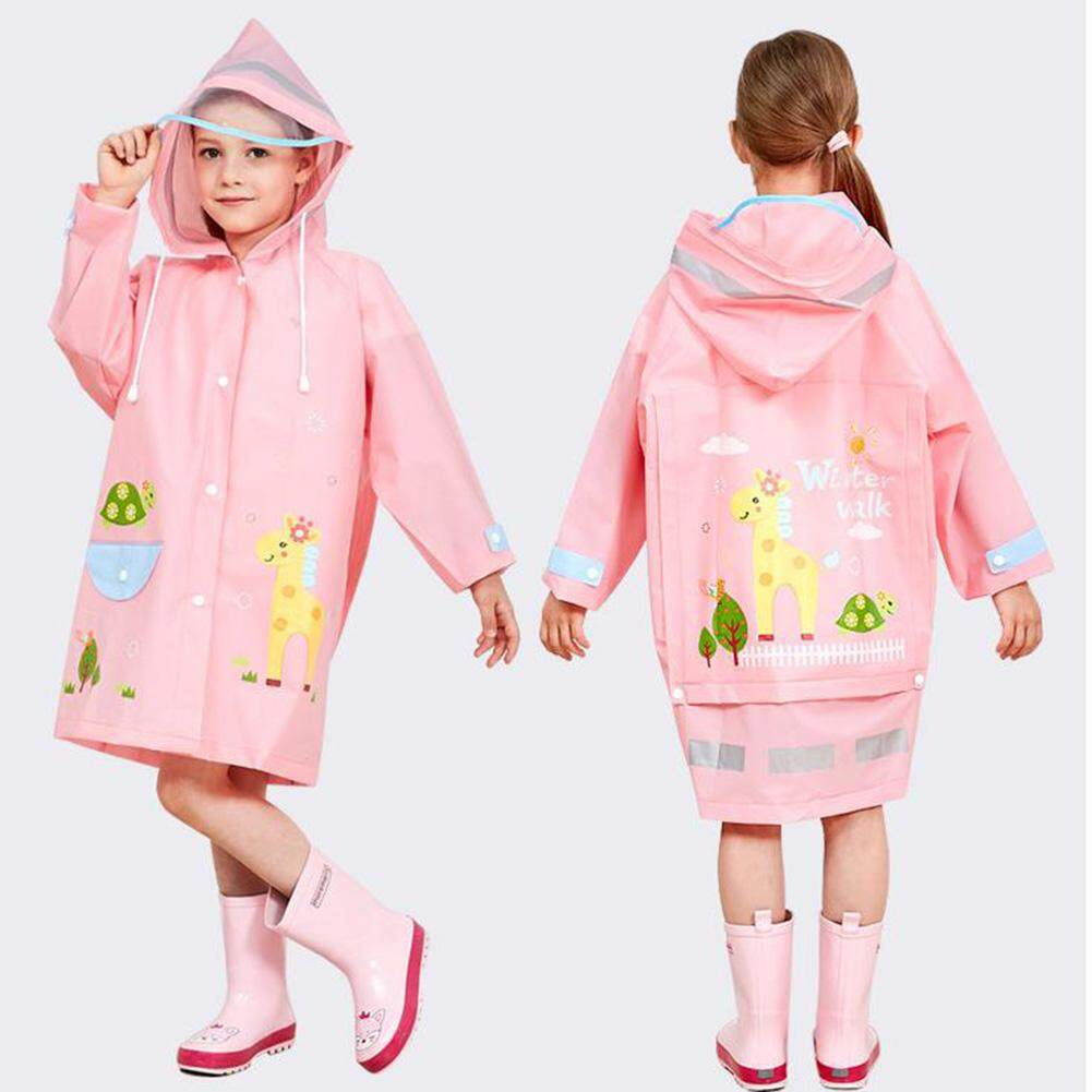 Kindergarten Children Raincoat Boys Girls Large Hat Raincoat