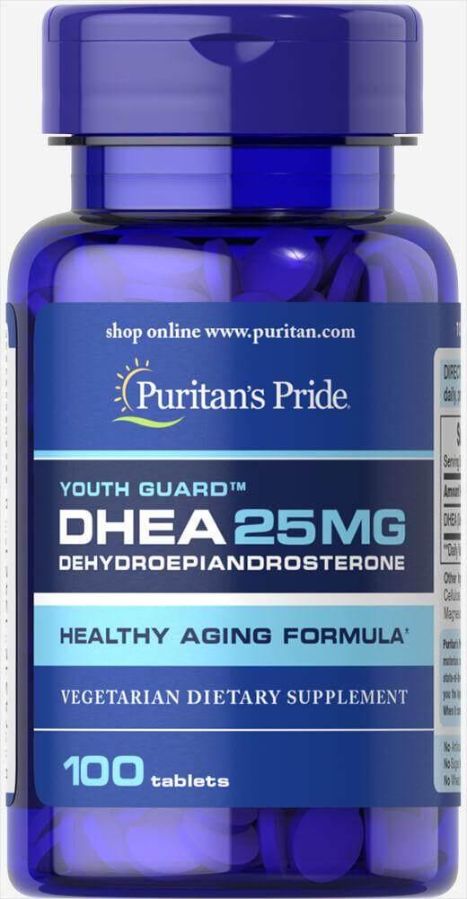 Dhea 25 Mg 100 เม็ด วิตามินวัยทอง Puritan Exp.2022.