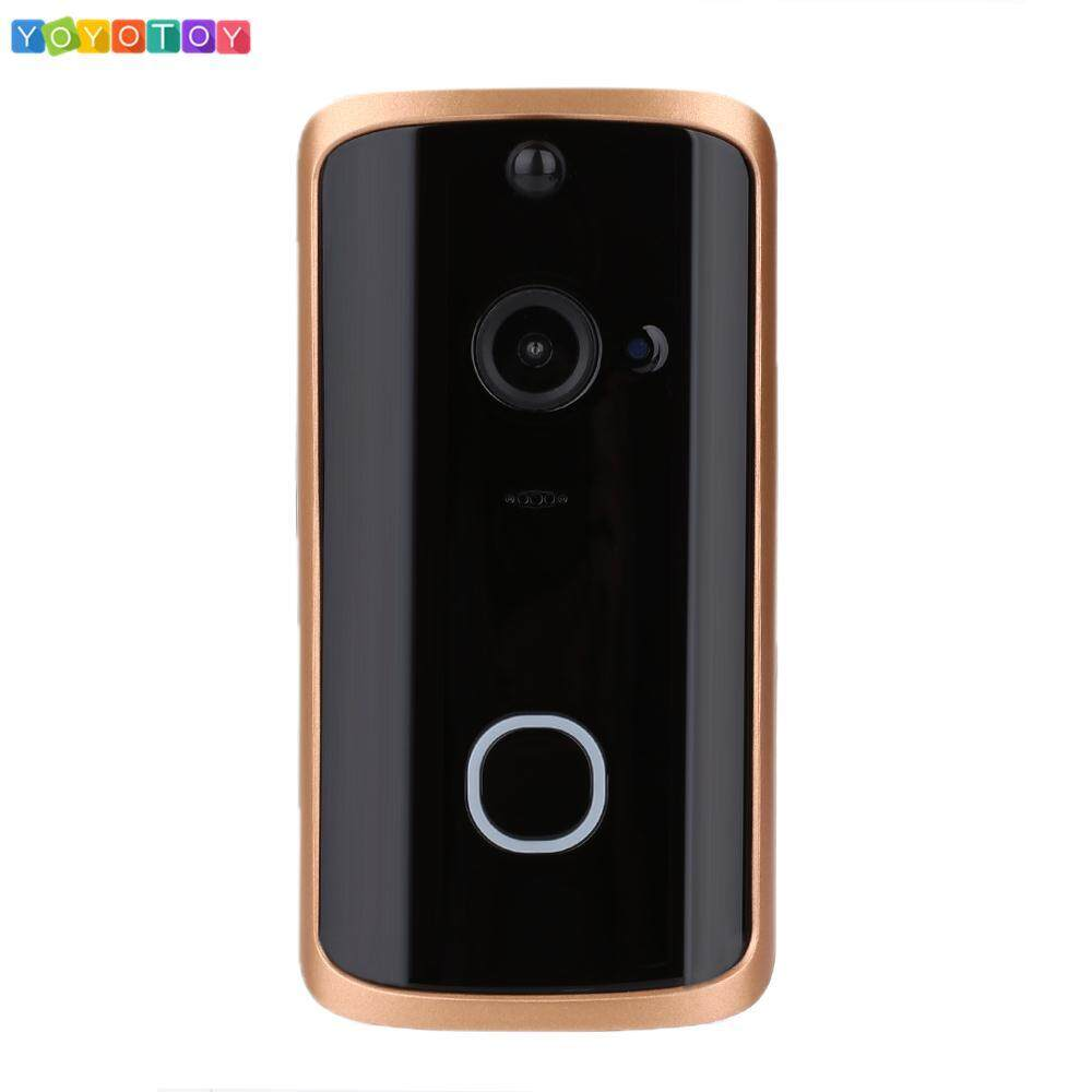 Fitness WiFi Door Bell Smart Video Doorbell Universal Multifunctional HD IR Night Vision 720P Security System Intercom Two Way Audio APP Visitor Motion Detection Visual Camera Remote Monitoring