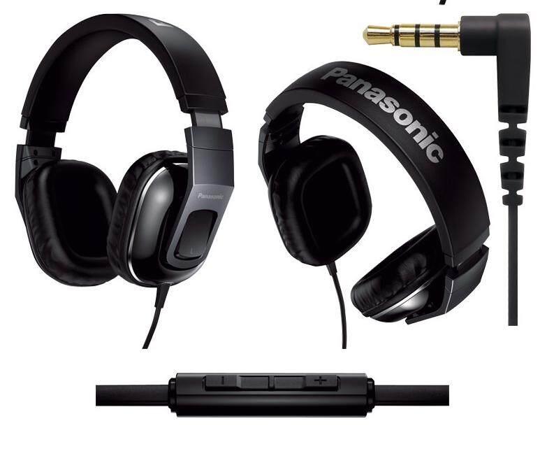 Panasonic RP-HT480C-K Monitor Headphones w/ Mic Remote For RPHT480C Black -