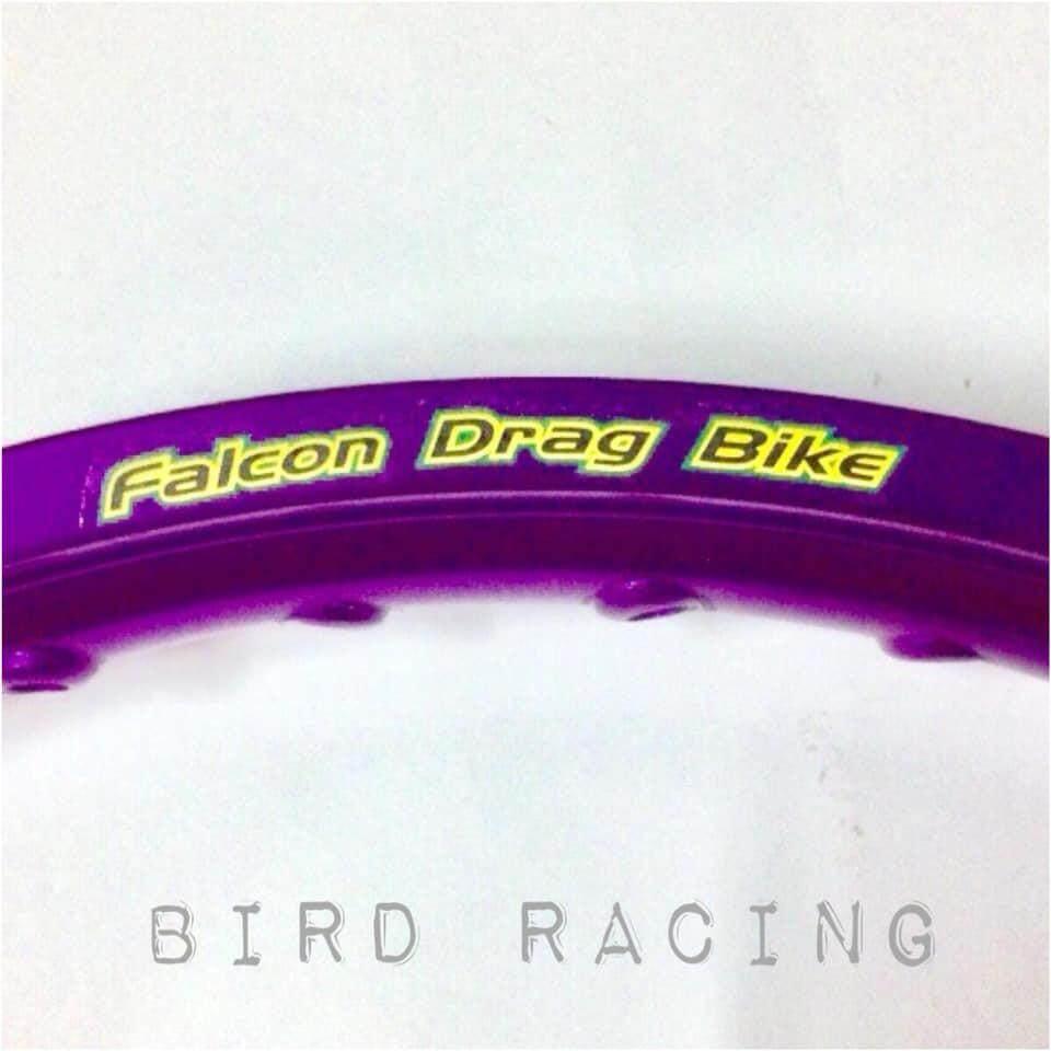 Falcon Drag Bike (ฟอลคอล) วงล้ออลูมิเนียม ขนาด1.4*17 (จำนวน1คู่) By Bird Racing.