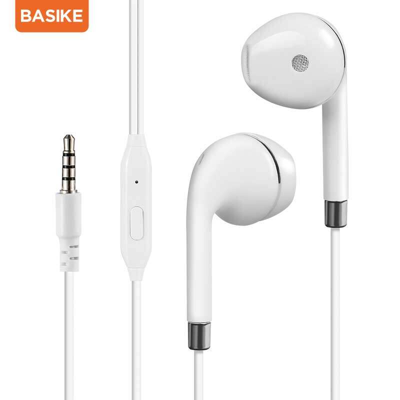 Basike หูฟังin Ear หูฟังเกมมิ่ง 3.5 มม. หูฟังเล่นเกม หูฟังมีไมค์ เสียงที่ชัดเจนใช้ได้กับ Androind Huawei Y9 Oppo A5 A5sa9 A57 A37 A37 F9vivo Y11 Y12 Y15 Y17xiaomi Redmi.