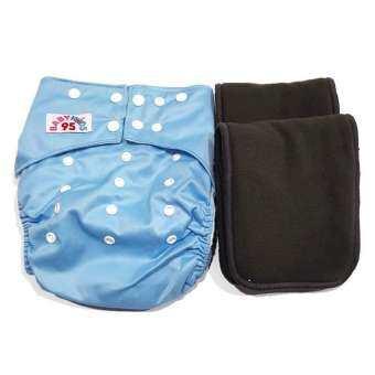 BABYKIDS95 กางเกงผ้าอ้อม เด็กโต ขอบปกป้อง BIG 14-25กก. พร้อมแผ่นซับชาโคล 2 แผ่น-