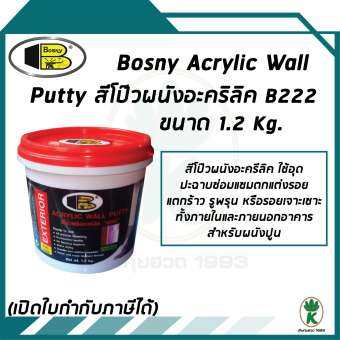 BOSNY ACRYLIC WATERPROOF PUTTY สีโป้วอะครีลิคกันรั่วซึม 1.2kg
