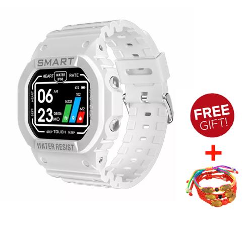 Smartwatch K16สมาร์ทนาฬิกาฟิตเนสสายรัดข้อมือติดตามหน้าจอสัมผัสแบบเต็มกันน้ำการนอนหลับการตรวจสอบผู้ชาย Sms ปลุก Iphone / Huawei / Oppo / Xiaomi สากล.