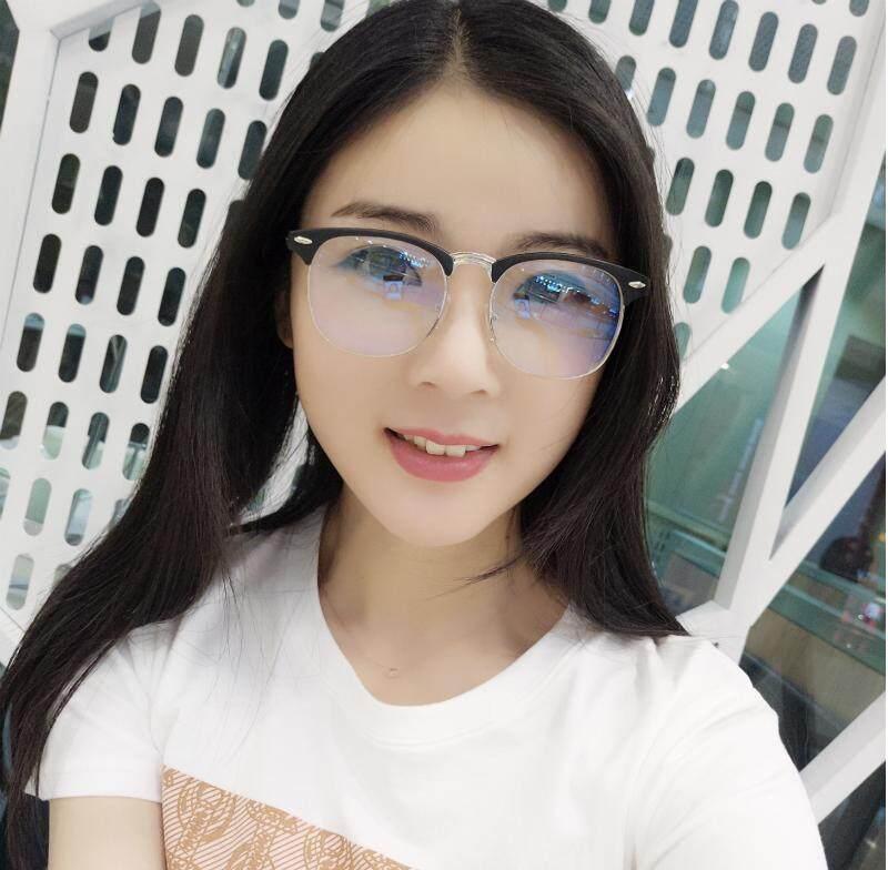 แว่นสายตาสั้น เลนส์สีขาวใส แว่นแฟชั่น ทรงย้อนยุค กรอบโลหะเต็มเฟรม  ค่าสายตาตั้งแต่ (-50) - (-600).
