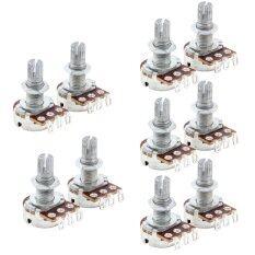 ขาย 10Pcs A500K Ohm Audio Pots Electrical Guitar Potentiometer Replacement ออนไลน์