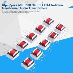 10 ชิ้น/แพ็ค 600: 600 Ohm 1:1 Ei14 หม้อแปลงแยกตัวแปลงเสียง, Stable Performance - Intl.