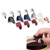 ขาย 15Pcs Set Stretchy Celluloid Steel Nail Plectrums Guitar Thumb Finger Picks For Guitar Lovers Multicolors Random Intl ราคาถูกที่สุด