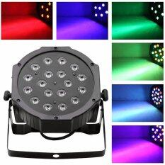 โปรโมชั่น 18 3W Led Rgb Par Can Dj Stage Dmx Lighting For Disco Wedding Uplighting Eu Plug จีน