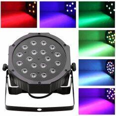 ซื้อ 18 3W Led Rgb Par Can Dj Stage Dmx Lighting For Disco Wedding Uplighting Eu Plug Unbranded Generic ถูก