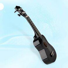 21 Soprano Basswood กีต้าร์แนวฮาวาย 12 Frets Ukulele Uke Instrument Black - Intl By Bokeda Store.