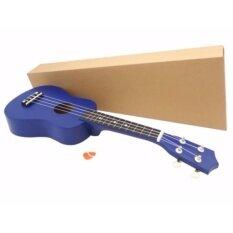 อูคูเลเล่ ขนาด 21นิ้ว อุปกรณ์ครบชุด เสริมสร้างพัฒนาการ พกพาสะดวก สีน้ำเงิน [ukulele].