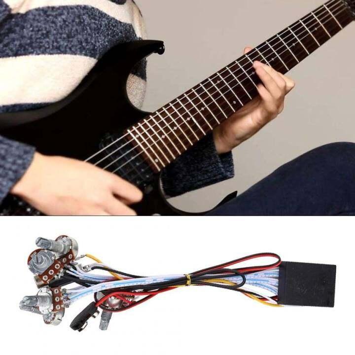 ซื้อที่ไหน 2 Band Active EQ Equalizer Preamp Circuit Pickup