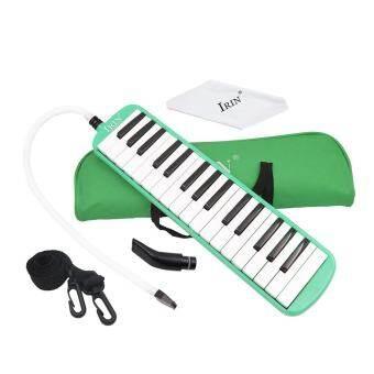 32 คีย์เปียโน Melodica เครื่องมือการศึกษาดนตรีสำหรับเด็กเริ่มต้นเด็กของขวัญกับกระเป๋าถือสีเขียว - นานาชาติ-