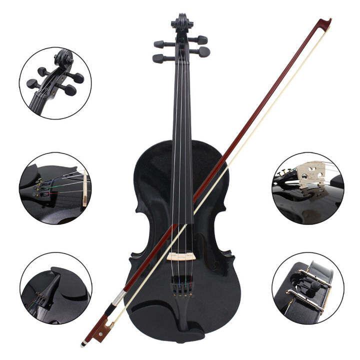 ราคา 4/4 Violin Fiddle Basswood Steel String Arbor Bow Stringed Instrument( INTL)