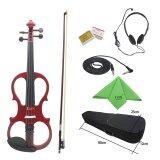 ราคา 4 4 Wood Maple Electric Violin Fiddle Stringed Instrument With Ebony Fittings Cable Headphone Case For Music Lovers Beginners Outdoorfree Intl ใหม่