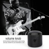 4 Pcs Durable Dome Knob Volume Tone Control Replacement Parts For Electric Guitar Bass Black Intl เป็นต้นฉบับ