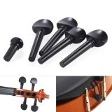 ซื้อ 4 4 Size Ebony Wood Violin Fiddle Tuning Pegs Endpin Set Replacement Black Intl ถูก