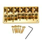 ความคิดเห็น 5 Saddle Bridge Set For 5 String Electric Bass Guitar Part Replacement Golden Outdoorfree Intl
