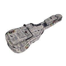 600d กันน้ำผ้า Oxford Oxford หนังสือพิมพ์สไตล์เย็บคู่สายรัดกระเป๋าใส่กีตาร์กระเป๋าถือสำหรับ 40 Inchs Acoustic Classic Folk กีตาร์ Outdoorfree - Intl.