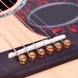 ซื้อ 6Pcs One Set New Acoustic Guitar Bridge Pins Saddle Nut Real Bone Intl Unbranded Generic
