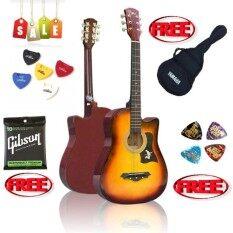 ขาย Acoustic Guitar Passion Ps 38 สีซันเบิส แถมกระเป่ากีต้าร์ Yamaha กันน้ำปิ้กกีต้าร์ Gibson 2 อัน ที่เก็บปิ๊ก และสายกีต้าร์ Gibson Usa เป็นต้นฉบับ
