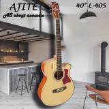 ขาย Ajite Guitar กีต้าร์โปร่ง 40 นิ้ว ไม้อย่างดี หน้า Spruce ข้าง หลัง Sapeli รุ่น L405 สีไม้ กรุงเทพมหานคร