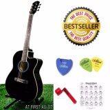 ส่วนลด At First กีตาร์โปร่ง Acoustic Guitar 40 รุ่น Ag07Bk ปิ๊กกีตาร์ Alice 2 อัน ที่เก็บปิ๊กกีตาร์ ที่หมุนเปลี่ยนสายกีตาร์ ตารางคอร์ด At First ใน นนทบุรี