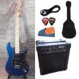 ขาย At First กีตาร์ไฟฟ้า Electric Guitar Stratocaster รุ่น Ae 111Blm Set ใน Thailand