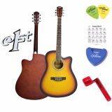ทบทวน At First กีตาร์โปร่ง Acoustic Guitar 41 รุ่น Ag009Sb ปิ๊กกีตาร์ Alice 2 อัน ที่เก็บปิ๊กกีตาร์ ที่หมุนเปลี่ยนสายกีตาร์ ตารางคอร์ด