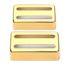 ขาย ซื้อ ออนไลน์ Bolehdeals 2 X ทองชุบ 2 เส้นฝาครอบกระบะ Humbuckernสำหรับไฟฟ้ากีตาร์แบบทองแดง