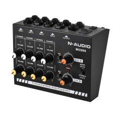 ขนาดกะทัดรัดขนาด 8 ช่อง Mono/สเตอริโอเสียง Line Mixer พร้อมอะแดปเตอร์ไฟ - Intl.