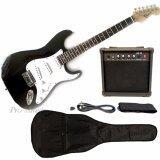 ราคา Cravis กีตาร์ไฟฟ้า Electric Guitar Set ทรง Stratocaster Fender พร้อม แอมป์ 15W สายแจ็ค สายสะพาย ปิ๊ก สีดำ ใหม่ล่าสุด