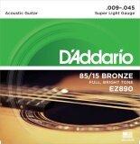 ซื้อ D Addario สายชุดกีตาร์โปร่ง D Addario 85 15 Bronze Light No 009 045 Super Light Gruge รุ่น Ez890 ใหม่ล่าสุด