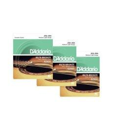 D'addario สายกีตาร์โปร่ง 3 ชุด รุ่น EZ-920(ของแท้100%)