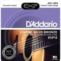 ส่วนลด D Addario สายกีต้าร์โปร่งแบบเคลือบ 11 52 รุ่น Exp13 D Addario