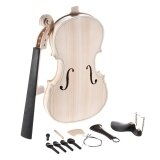 ราคา Diy 4 4 Full Size Natural Solid Wood Acoustic Violin Fiddle Kit Spruce Top Maple Back Neck Ebony Wood Fingerboard Accessory Tailpiece Intl ที่สุด