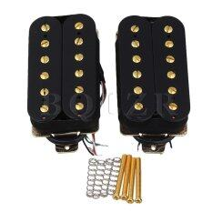 Double Coil Humbucker Pickups With Gold Magnetic Column Set Of 2 Black - (intl).