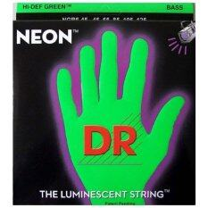 Dr Neon Hi Def Bass Strings สายกีต้าร์เบส 5 สาย เรืองแสง สีเขียว รุ่น Npb5 45 ใหม่ล่าสุด