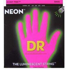 ขาย Dr Neon Hi Def Bass Strings สายกีต้าร์เบส 5 สาย เรืองแสง สีชมพู รุ่น Npb5 45 ถูก ใน Thailand