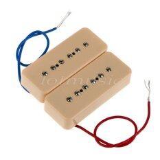 ขาย Electric Guitar P90 Soapbar Pickups For Les Paul Parts Bridge And Neck Single Coil Cream Set Of 2 Intl ออนไลน์