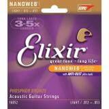 ขาย Elixir® Nanoweb สายกีตาร์โปร่ง เบอร์ 12 แบบ 80 20 Bronze ของแท้ 100 Light 012 053 ออนไลน์ ไทย
