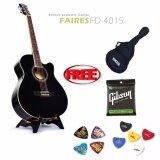 ขาย กีต้าร์โปร่ง Faires Fd4015 สีดำ แถมฟรี กระเป๋า Yamaha สายกีต้าร์ Gibson ปิ๊ก ที่เก็บปิ๊ก ถูก ใน กรุงเทพมหานคร