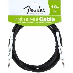 ทบทวน ที่สุด Fender® สายแจ็คกีตาร์ 3M ของแท้ หัวตรงสองด้าน รุ่น Performance Series 10Ft Instrument Cable Straight Straight Guitar Cable Guitar Effects Cable สายแจ็คกีตาร์ไฟฟ้า