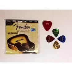 ราคา สายกีตาร์ Fender 70Xl เบอร์ 10 48 พร้อมปิ๊กกีตาร์และที่เก็บปิ๊ก เป็นต้นฉบับ Fender